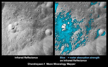 Chandrayaan, found water resource